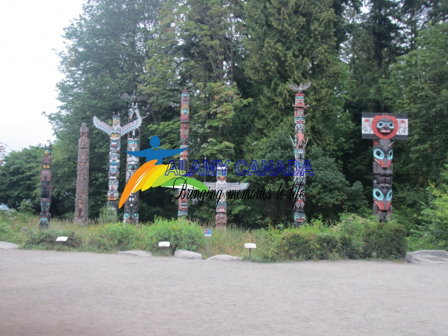 Totem poles at Brockton Point in Stanley Park
